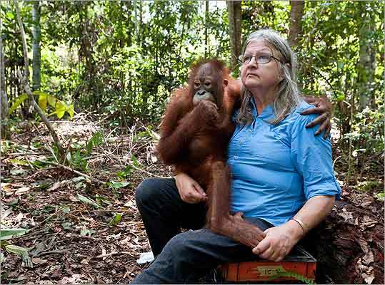 Mary Galdikas has spent decades in Indonesia studying orangutan society.