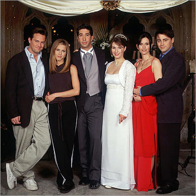 Ross and Emily's wedding on 'Friends'