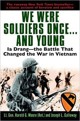 We were soldiers once and young By Lt. Gen. Harold G. Moore and Joseph L. Galloway Vietnam veteran Moore and war correspondent Galloway tell the story of the first significant battle between US troops and the Viet Cong when the American soldiers found themselves surrounded and outnumbered.