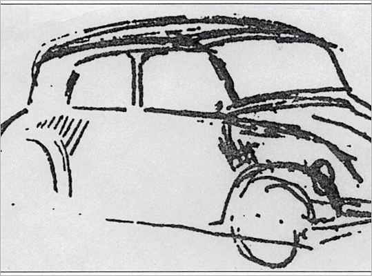 The original Volkswagen Beetle was born from within the Third Reich. Ferdinand Porsche, the founder of Porsche, was commissioned by Adolf Hitler to create a car for the people – Volkswagen translates roughly to the 'people's car.' According to author Billy F. Price in the book 'Adolf Hitler: The Unknown Artist,' this drawing of the prototype Volkswagen was completed by Hitler in 1932 at a restaurant and was passed off to his automotive adviser.