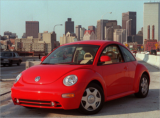 Luckily, the Beetle made a comeback in in 1998 with the New Beetle, a whole new design that would cater to a new crowd. It debuted at the Detroit Auto Show in 1994 and was much rounder and cuter than its predecessors. For a time, it outsold Ford Focus and Chevy Impala, according to the AP .