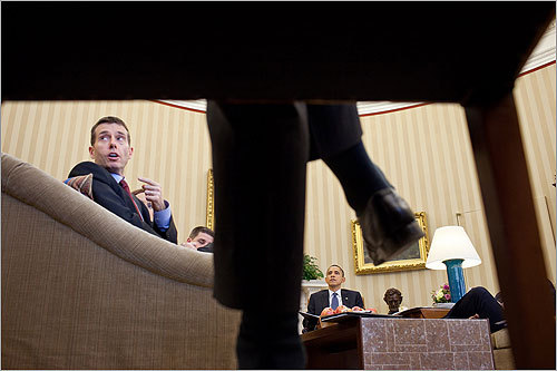 David Plouffe has a reputation for focusing on details and also adhering to a consistent message, regardless of the environment. The now-senior adviser made a point during a meeting with the president and other senior staff members in the Oval Office in March.