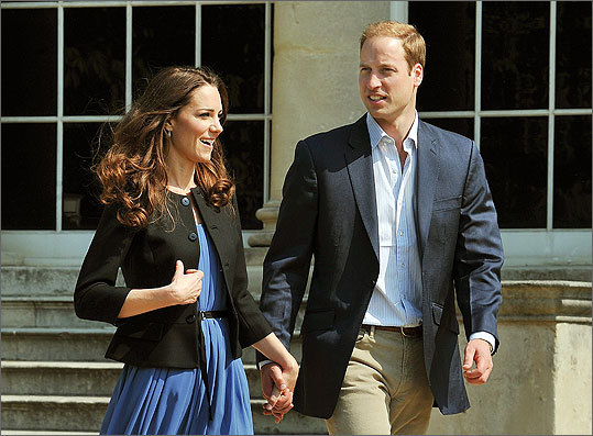 William and Catherine left Buckingham Palace hand in hand the day after their wedding to head off for a secret honeymoon.