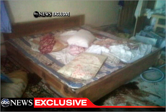 This video frame grab from ABC News shows the interior bedroom in the Pakistan mansion where bin Laden was killed.