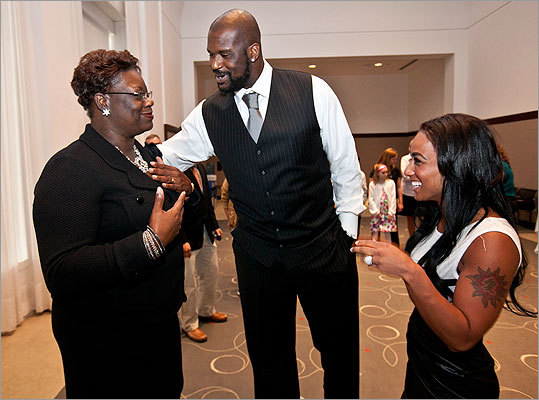 Lucille and Shaquille O'Neal and Nikki 'Hoopz' Alexander