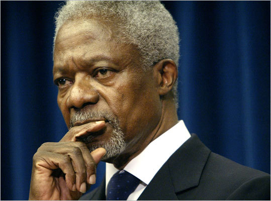 Kofi Annan Kofi Annan, an alumnus of the Sloan School of Management from 1972, was the secretary general of the United Nations and the 2001 Nobel Peace Prize recipient.