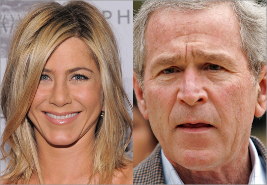 Jennifer Aniston, George Bush