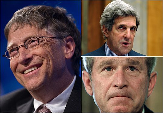 Bill Gates John Kerry George Bush