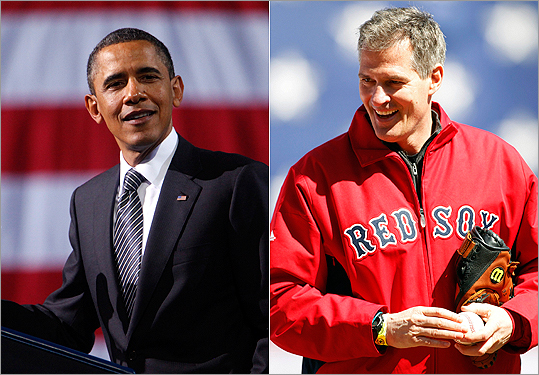 President Obama and Scott Brown