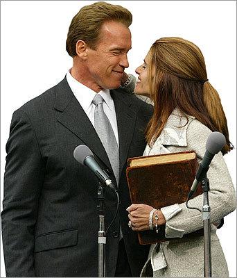 Arnold Schwarzenegger and his wife Maria Shriver