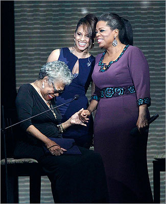 Maya Angelou, Alicia Keys, and Oprah