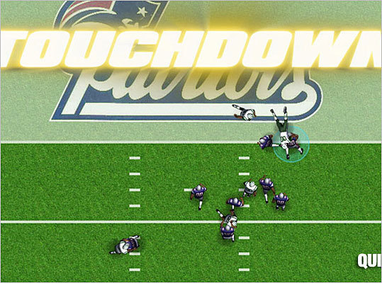 QuickHit Football Foxborough-based Quick Hit hit the big time in the world of video games when it scored the rights to the NFL, becoming only the second company to do so after Electronic Arts. The game has players drafting their own teams and train them to victory. Quick Hit's line of sports games are free-to-play online and casual and have already registered over 4 million users.