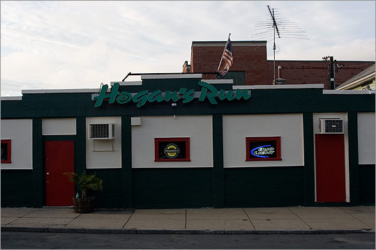 Hogan's Run Neighborhood: Allston/Brighton 8 Lincoln St., 617-254-9407 This windowless bar is 'in the middle of nowhere, overlooking the Mass. Pike,' O'Neil says. 'You're almost surprised that a place like this exists.' Blue collar locals, Allston musicians, and New Balance employees are all part of the crowd on any given night — there's cheap beer, darts, pool, Big Buck Hunter, and a jukebox to pass the time. Also nearby: The Silhouette