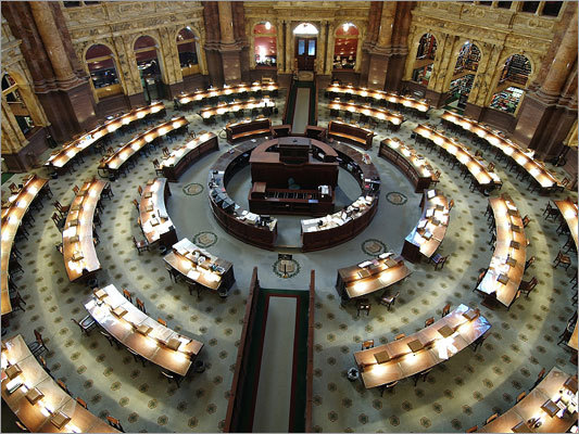 9. Washington, D.C. The nation's capital -- home to the Library of Congress, pictured -- came in number nine.