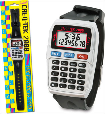 Calculator watch Price: $14.95 Bring Dad back to the 1980s with this calculator watch. It may not be as flashy or as detailed as modern watches, but it does what is meant to do and is a great nostalgic accessory.