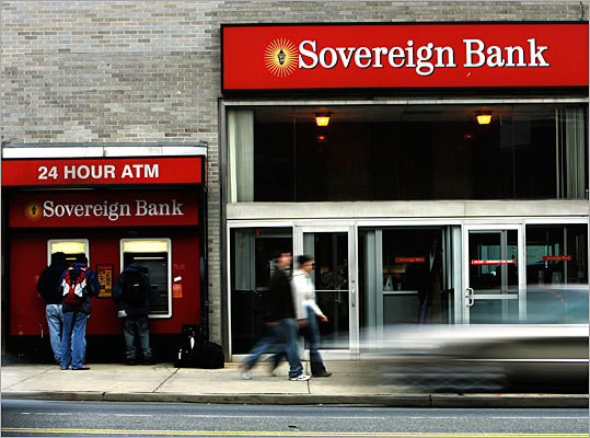 Sovereign Bank Monthly maintenance fee: $5 unless minimum requirements met This monthly fee can be waived if the customer maintains an average daily balance of $500.