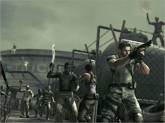 Resident Evil 5 (2009) The fifth title in the popular Resident Evil shooter series caused a bit of a stir when Black Looks, a blog that comments on race and gender, condemned the game's depiction of 'Black people as inhuman savages,' according to the LA Times. The game takes place in Africa in the midst of a new plague that turns many of the villagers into crazed and violent zombies.