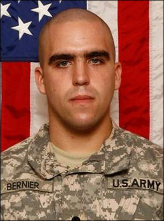 Specialist Nicholas P. Bernier, 21, East Kingston, N.H. Bernier chose a path in the military after graduating from Exeter High School in 2007. He became an Army medic and was assigned to the Second Battalion, 30th Infantry Regiment, Fourth Brigade Combat Team, 10th Mountain Division out of Fort Polk, La. He died June 25, 2011, at Landstuhl Regional Medical Center in Germany of injuries suffered June 21 when insurgents attacked his unit with small arms fire in Kherwar, Afghanistan.