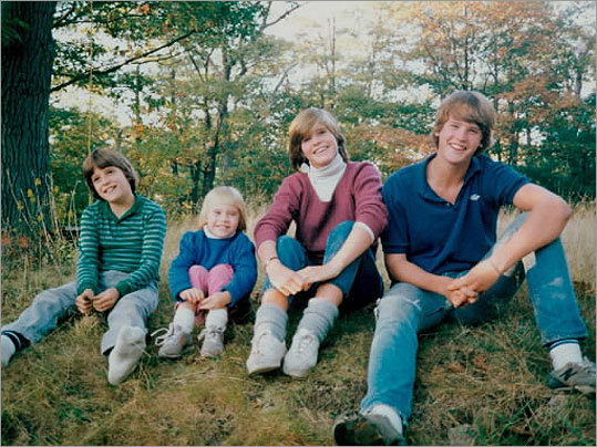 Gifford (left) with siblings, from left, Jessica, Ramsay, and Charles.