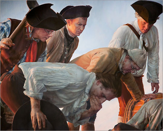 Detail of 'The First Casualty of Bunker Hill'
