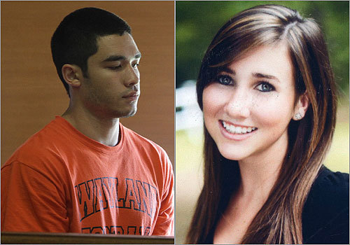 Authorities say that on July 3, Nathaniel Fujita slashed Lauren Astley's throat, strangled her with a bungee cord, and dumped her body in a marsh in Wayland, where the former high school couple, both 18, lived. Fujita was arrested July 4, and pleaded not guilty to first-degree murder the next day.