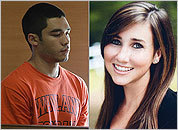 Nathaniel Fujita (left) and Lauren Astley