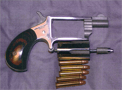 A handgun, with ammunition, that the government said was seized from Bulger.