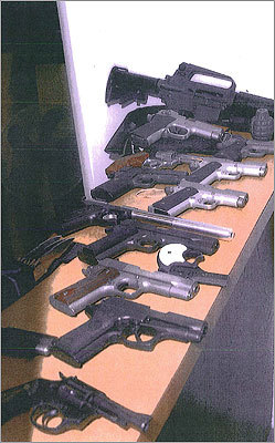 Here are more weapons the government seized.