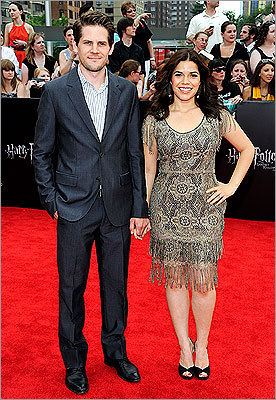 America Ferrera and her husband Ryan Piers Williams