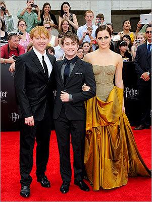 Rupert Grint, Daniel Radcliffe, and Emma Watson