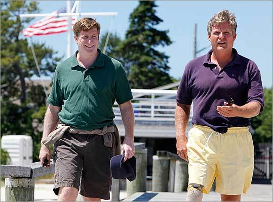 From left: Patrick Kennedy and his brother Edward Kennedy Jr.