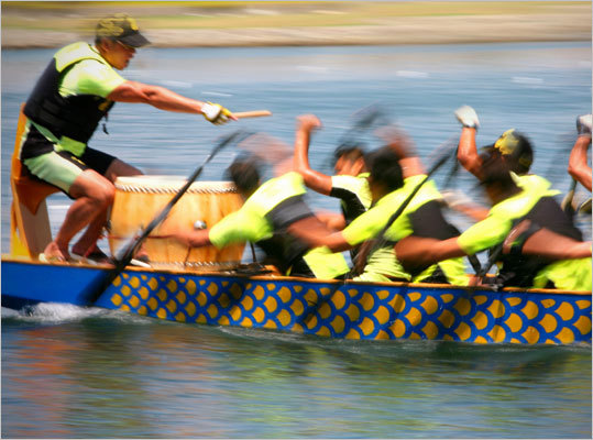Dragon boat races July 21-Oct. 22 Try joining a team and paddling Dragon Boats down the Charles River. This sport is a cross between canoeing and rowing. Participants meet at the docks at Spaulding Rehab Hospital. Cost: First two practices are free, after that $200 per calendar year for all pool and water practices