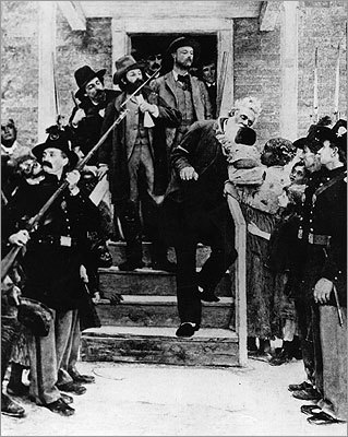 A painting by Thomas Hovenden depicting John Brown going to his execution in Charlestown, Virginia in 1859.