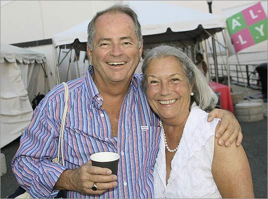 Aug. 13 in Charlestown Steve Stiles and Ally founder Andrea Casanova of Woodside, Calif. Casanova launched The Ally Foundation after her daughter, Ally, was murdered.