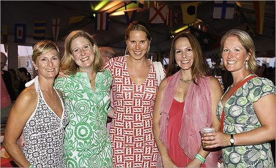Aug. 13 in Charlestown From left: Donna Zimmermann, of Boston, Madge Roberts, of Boston, Beth Edwards, of Charlestown, Monica Antezana, of Charlestown, and Eleanor Dixon, of Boston.