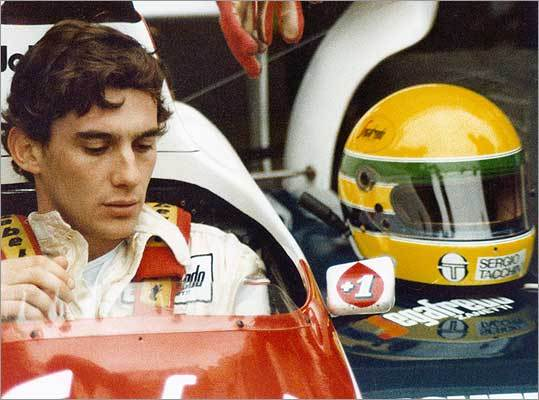 Ayrton Senna in a scene from 'Senna.'