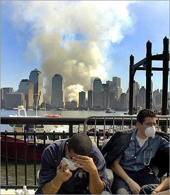 The 9/11 attacks also transformed the New York City skyline and the neighborhood around the site. Rescue workers were taken by boat from ground zero to Jersey City, N.J.