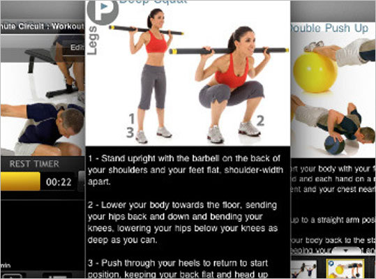 iPump iPump has an extensive library of what they bill as apps that feature a 'personal trainer' in your hand. The company offers one free workout app to allow you to try out their apps before you commit to paying for one of their other downloads. Available for: iphone Price: Cost varies by app you choose from the library of PumpOne