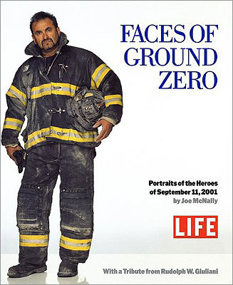 'Faces of Ground Zero' by Joe McNally Life magazine photographer Joe McNally presents 150 photographs taken with his 12-by-12-foot Polaroid camera, which takes larger than life-size photographs. The series presents the heroes of ground zero. Description from Barnes & Noble .