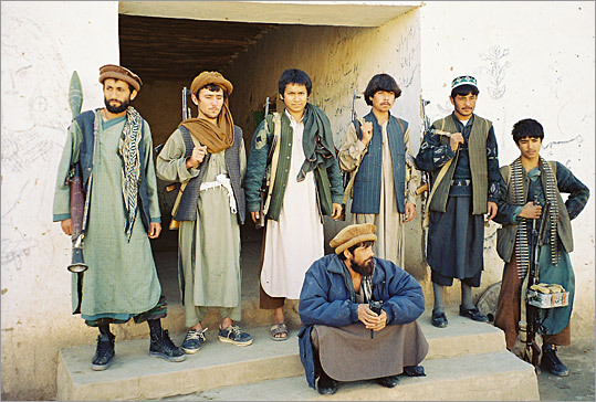 Commander Daud (center) with his fighters.