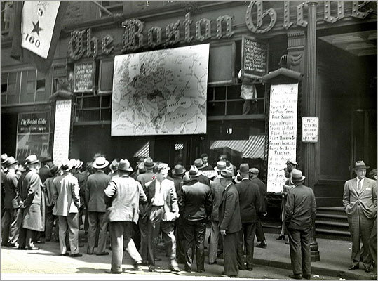 June 1944 In the weeks after the Allied Forces in World War II invaded France on D-Day, a giant map of Europe dominated the storefront.