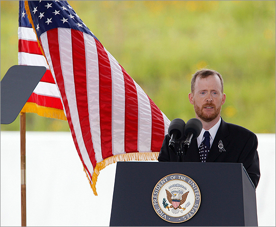 Gordon Felt, brother of Flight 93 passenger Edward Felt, spoke at the dedication ceremony.