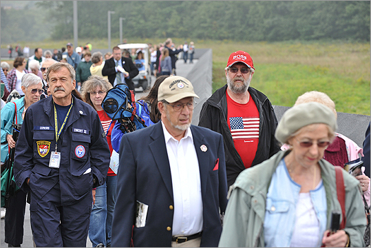 Organizers were expecting 4,000 people to visit the Flight 93 memorial in Shanksville this weekend.