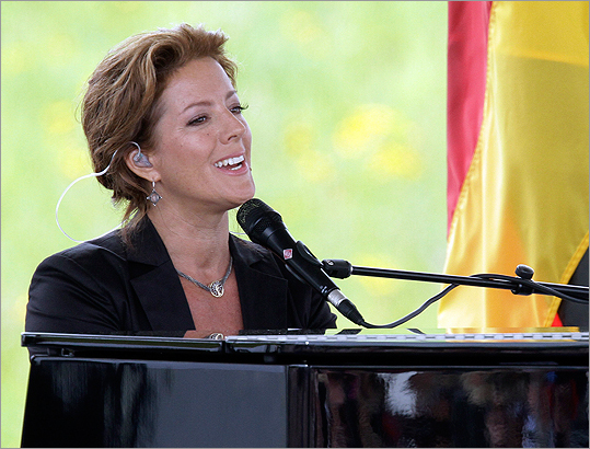 Singer Sarah McLachlan performed during the dedication ceremony.