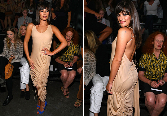 Lea Michele at Alexander Wang