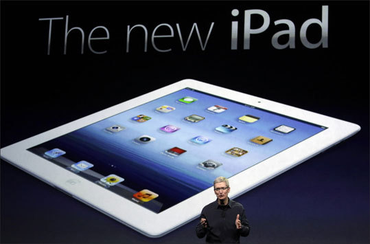 Cost Apple kept the prices of its new iPad the same as the previously were -- starting at $499 for a Wi-Fi-only device. The cost of the Kindle Fire is one of its top selling points. The device sells for $199. The Fire will also come with a 30-day trial of Amazon Prime, the company's $79-a-year membership service that includes streaming video and free two-day shipping . Shown: Apple chief executive Tim Cook announced the new iPad at the launch Wednesday.