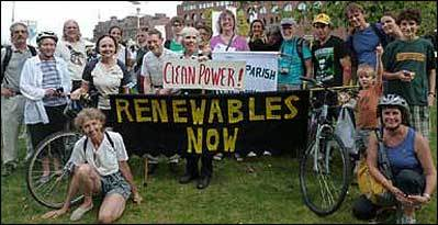 Local presence at rally backing action on climate
