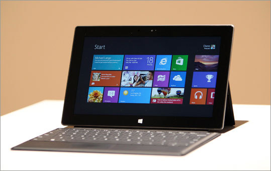 Camera Surface RT (pictured): Front- and rear-facing HD video cameras. Surface RT (pictured): The Surface Pro also has front- and rear-facing cameras Kindle Fire: The Kindle Fire does not come with cameras. iPad: Two built-in cameras: one on the front, and one on the back.
