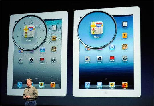 Resolution Google Nexus: 1280x800 HD display. iPad: Apple doubled its iPad's resolution to 2048-by-1536 pixels. Kindle Fire: 1024-by-600 pixel resolution. Surface: Microsoft did not release a specific resolution, but it did say that the devices will have a 16:9 aspect ratio.