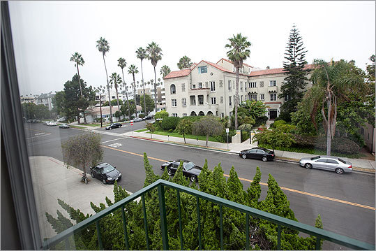 The view from the third-floor Santa Monica apartment Bulger shared with Catherine Greig.